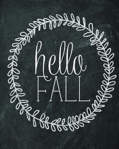 Free Hello Fall Printable — Paperelli