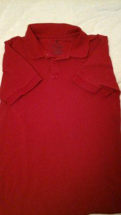 Boys Size XL (18/20) Red Short Sleeve Nautica Polo