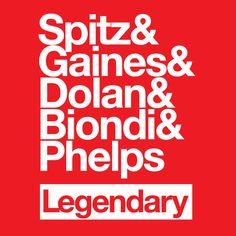 Swimming legends.