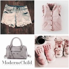 Transitioning into some fun spring looks! We have amazing stuff coming!! To shop this look, click on the link in our bio or type www.modernechild.com . Free Shipping everyday! #kidsclothes #kidsfashion #sneakers #pink #puffyvest #kidslaceshorts #minimotorbag #grey #fashionkids #kidsfashion #accessories #springlooks #amazingandchickidsclothing #denim #lace #studdedsneakers #gold #metallics #modernechild #trendykids