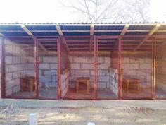 Goat Shelter, Shelter Dogs, Animal Shelter, Bunny Cages, Dog Cages, Dog Cage Outdoor, K9 Kennels, Dog Transport, Walk In Chicken Coop