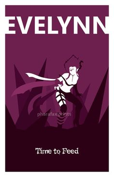 Evelynn League of Legends Print by pharafax on Etsy, $16.00