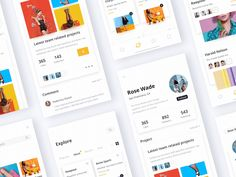 Portfolio App Design - Black & White Edition designed by Regen G. the global community for designers and creative professionals. Ui Design Mobile, App Ui Design, Mobile Ui, Web Design, Moves App, Website Design Layout, Ios, Website Design Inspiration, Interactive Design