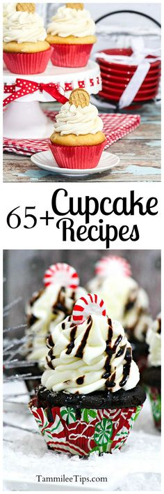 Over 65 delicious Cupcake recipes perfect for Halloween, Birthday parties, Holiday parties, and more! Check out these great easy, creative, cute cupcake ideas, decoration and recipe! Everything from Vanilla, Chocoalte and Birthday cake flavorted to more e
