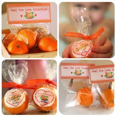 "Peel the love, #Valentine!  I love ""Cuties"" oranges - this makes a fun valentine."