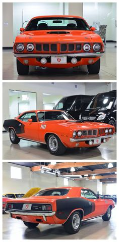 Rare one of a kind muscle - check out this Plymouth Barracuda Hemi Cuda #FAmericanMuscle