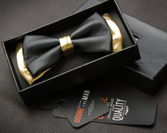 Wonderful Black Gold Jewelry For Beautiful Pieces Ideas. Breathtaking Black Gold Jewelry For Beautiful Pieces Ideas. Wedding Groom, Wedding Suits, Gold Wedding, Gatsby Wedding, Glamorous Wedding, Groom Ties, Groom And Groomsmen, Black Gold Party, Gold Bow Tie