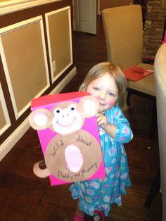 Monkey Valentines box!