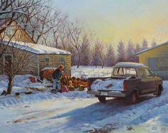 """Cold Winter in Saskatchewan"" Cold, Explore, Canvas, Oil Paintings, Winter, German, Art, Tela, Winter Time"