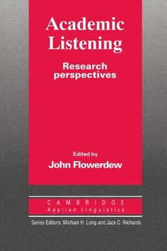 Academic Listening: Research Perspectives (Cambridge Appl... https://www.amazon.es/dp/0521455510/ref=cm_sw_r_pi_dp_wyuxxbWHGW68K