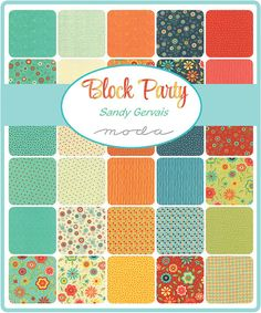 BLOCK PARTY Mini Charm Pack  Sandy Gervais for Moda  by Jambearies