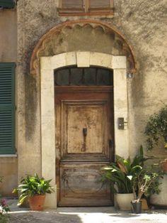love the worn color of the door