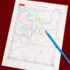 Dumbo's Circus Coloring Page
