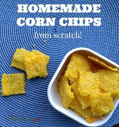 Homemade Corn Chips have just 4 ingredients and are ready in under 30 minutes. So delicious & better for you than store bought!