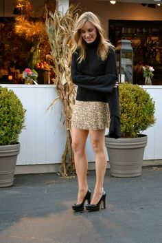 casual glamorous: Simplified Sequins
