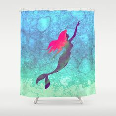 Disney's The Little Mermaid Shower Curtain by Foreverwars - $68.00