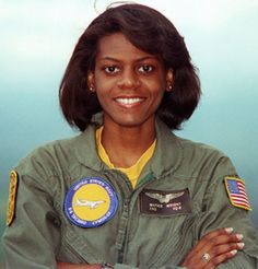 Matice Wright, the U.S. Navy's first black female naval flight officer, is seen when she was assigned to Fleet Air Reconnaissance Squadron (VQ) 3.