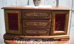 Vintage Hatco Japan Wooden Jewelry Box/ Doll Dresser Furniture