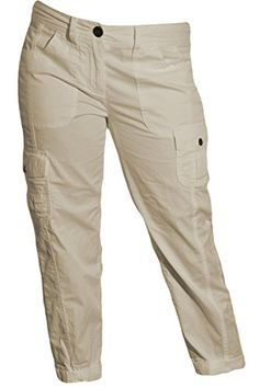 Tommy Hilfiger Cargo Cropped Pants New Stone 10 *** Read more  at the image link. (This is an Amazon affiliate link)