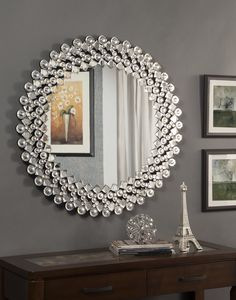 Crystal Wall Mirror you'll love the round crystal wall mirror at wayfair - great deals