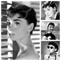 Audrey Hepburn, short hair