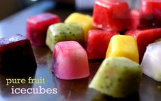 ❤ How To Make Fantastic Pure Fruit Ice Cubes ❤