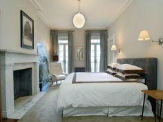 Julianne Moore's West Village Townhouse bedroom