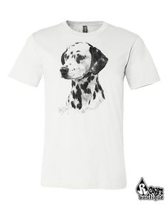 Unisex Dalmatian puppy dog pet lovers t-shirt, tshirt is Bella-Canvas in s m l xl xxl