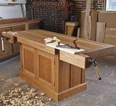Woodworking Bench Heirloom Workbench Woodworking Plan from WOOD Magazine Workbench Plans, Woodworking Workbench, Garage Workbench, Workbench Organization, Craftsman Workbench, Industrial Workbench, Folding Workbench, Woodworking Machinery, Workbench Designs