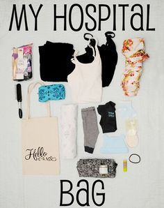 What to pack in your hospital bag- Detailed list of what to bring to the hospital for baby and what NOT to bring. Also good idea for separate bags for delivery and recovery rooms.