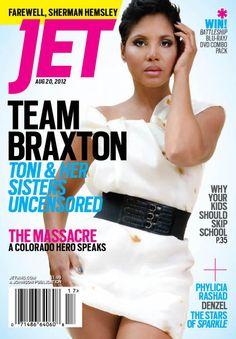 @ToniBraxton covers Jet Magazine as the new season of #BFV premieres August 16 on @WETV