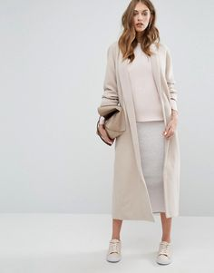 Missguided | Missguided Shawl Collar Robe Maxi Coat