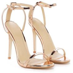 New heels shoes strappy stilettos 32 ideas Metallic Sandals, Strappy Sandals Heels, High Heels Stilettos, Stiletto Heels, Shoes Heels, Strap Sandals, Prom Shoes, Fashion Heels, Nasty Gal