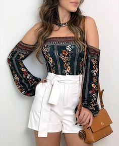 Shorts Vanilla Off White Holiday Outfits, Summer Outfits, Casual Outfits, Cute Outfits, Boho Fashion, Autumn Fashion, Fashion Outfits, Womens Fashion, Fashion Trends