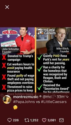 Tale of two pizzas.