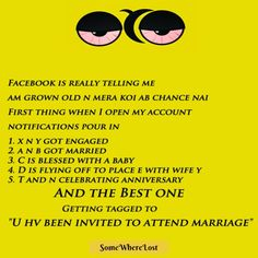 Facebook is really telling me am grown old and mera ab koi chance nahi.. :D :P