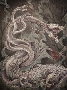 The Lernaean Hydra by Caitlin Hackett