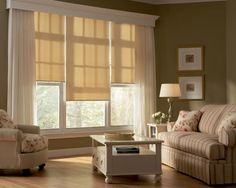 valance with cellular-like blinds...and sheer curtains. Do we like this for a smaller window (one blind) and in a bedroom...with a headboard up against the window? trying to use similiar colour blinds i already have (see other pins)