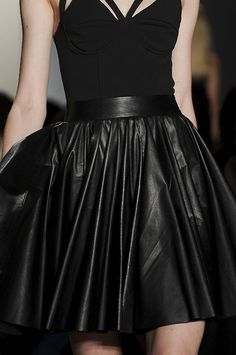 pleated leather skirt. I want it. I have no idea where I'd wear it but still!