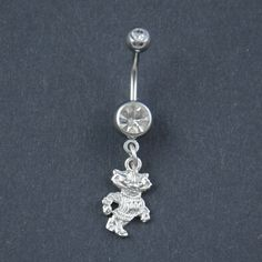 Wisconsin Belly Button Ring Wisconsin Jewelry Wisconsin Badgers Jewelry