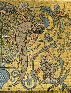 "Walter Crane ""Detail of the gold mosaic frieze, c.1881"