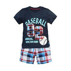 Coralup Little Boys Cotton Short Sleeve Set 2Pcs T-Shirt