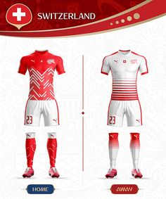 Soccer jerseys for the 2018 World Cup World Cup Russia 2018, World Cup 2018, Fifa World Cup, Team Shirts, Football Shirts, Switzerland Football, Soccer Fans, Soccer Jerseys, Sports Jersey Design