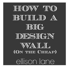 MAKE: Design Wall for Quilt Studio | Walls, Sewing rooms and Room