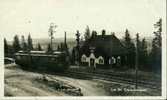 """Christiania Kristiania Oslo  LIA St. Tryvandsbanen. Med trikk. Utg Eneret """"Prospekt""""tidlig 1900-tallet"""