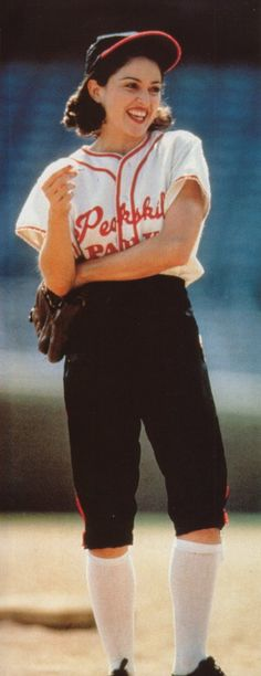 Madonna, A League of Their Own #baseball best movie ever (: