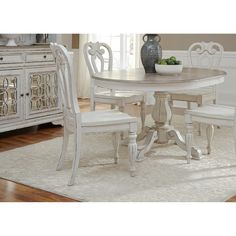 LIberty Magnolia Manor Antique White Wooden Splat-back Side Chair   Overstock.com Shopping - The Best Deals on Dining Chairs