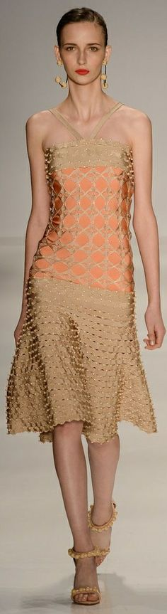 Lolitta RTW Summer 2015 ~ São Paulo love the texture running across skirt - could include survival nutrients