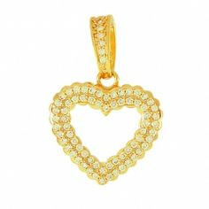 Pingente Coração Com Zircônia Semi-jóia - Rivera Jóias