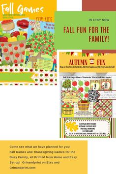 Looking for fall activities for kids or  first-day fall activities? There's nothing like a little fall fun and some fall time activities for a party or classroom to get in the spirit of autumn and all it has to offer. Why not start with our September or October activities and print them from home too!  First Day of Fall Activities is also great for some Thanksgiving fun too! Play now and later for both Fall celebrations! Enjoy the season. #fallfun #fallfamilyfun #fall #fallactivities # Fall Birthday Parties, Party Favors For Kids Birthday, Birthday Invitations Kids, Halloween Invitations, Printable Invitations, Invites, Christmas Activities For Kids, Time Activities, Halloween Scavenger Hunt